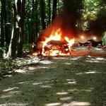 Nézők mentették ki a lángoló autóból a Veszprém rali versenyzőjét