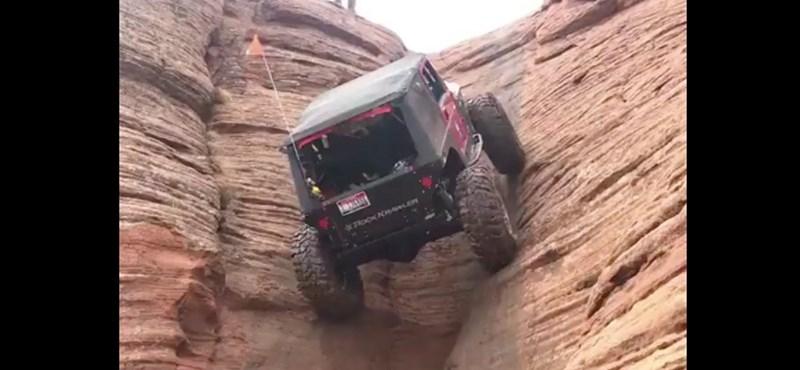 Videó: Olyan trükköt csináltak ezzel a Jeeppel, hogy nem hiszünk a szemünknek – de ön se fog