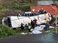 Német turisták haltak meg a madeirai buszbalesetben