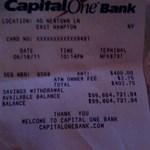 ATM-pénzfelvét után százmillió dolláros egyenleg maradt