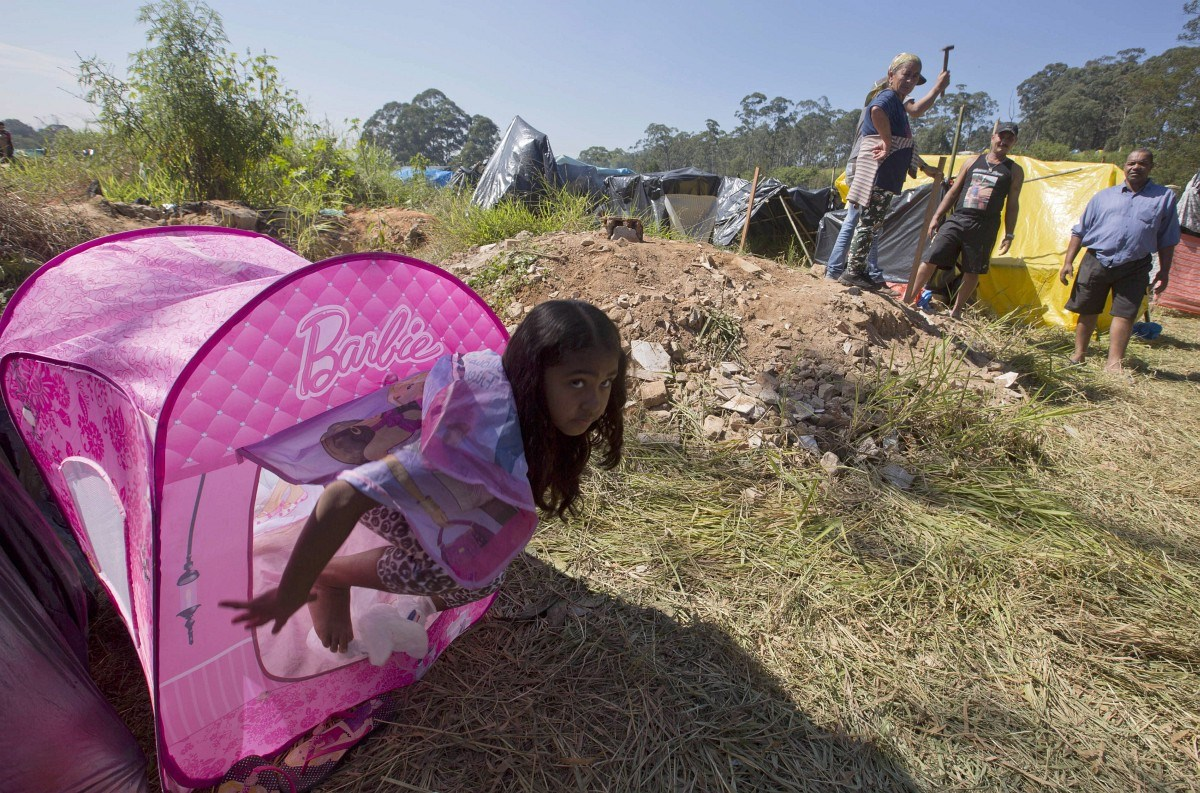 Hajléktalan dolgozók foglaltak földet Brazíliában - fotók