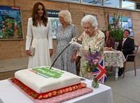 II. Erzsébet királynőnek nincs szüksége késre, karddal is megoldja a tortaszeletelést