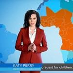 Katy Perry elment időjárás-jelentőnek – videó
