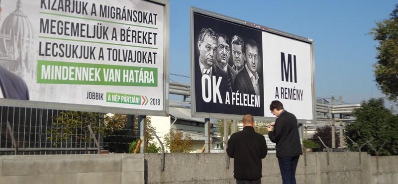 Máris megrohanták a plakátkommandók a Jobbik új hirdetéseit
