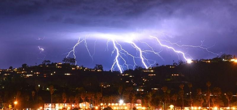 Jégeső és felhőszakadás is lehet pénteken, Pest megyében már tombol a vihar
