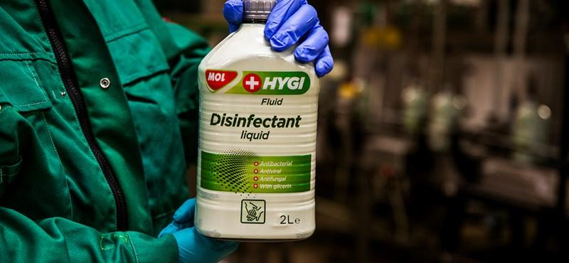 Koronavírus: fertőtlenítőszer-gyártásra álltak át a MOL egyik gyárában