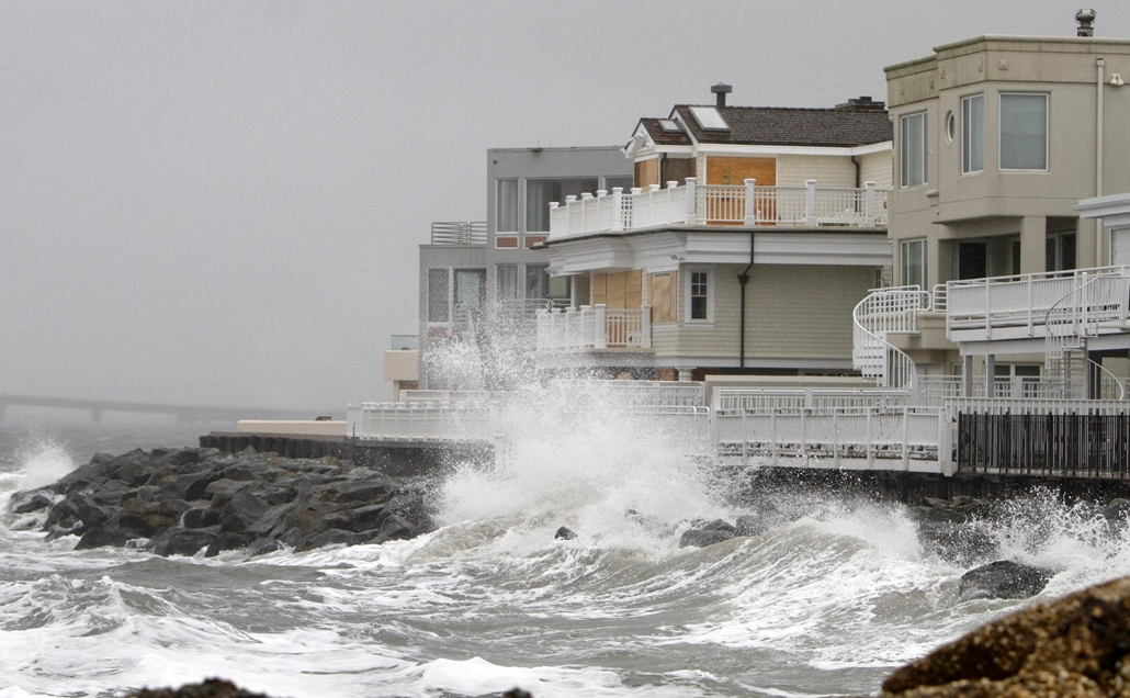 Sandy hurrikán - érkezés előtt - Longport, New Jersey - 20121029003