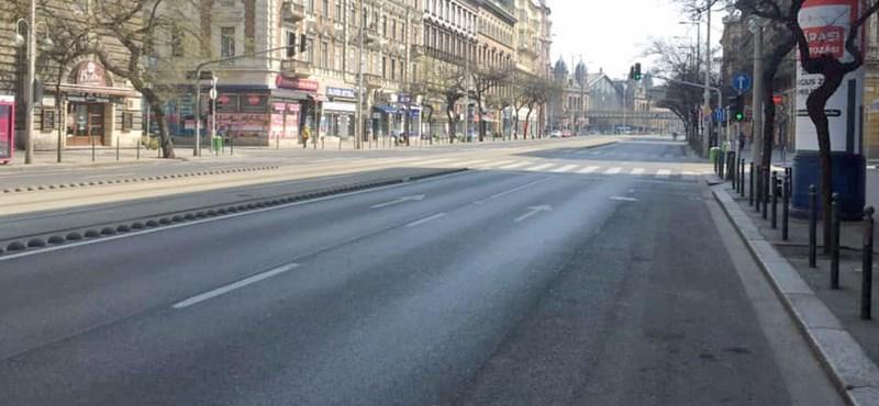 Vasárnap délutánra kiürültek Budapest utcái