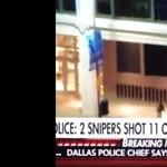 Videóra vették egyik rendőr lelövését Dallasban