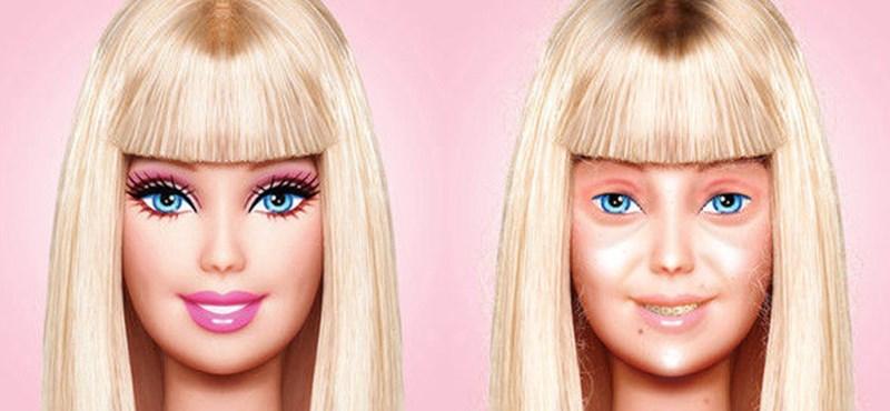 Sokkoló fotó: így néz ki Barbie smink nélkül