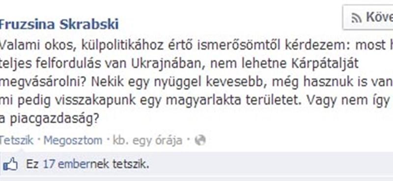 Megvenné Kárpátalját a Fidesz házibloggere
