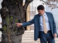 """""""Bábu vagy, János!"""" – Tüntető diákok fogadták Ádert Pécsen, aki megtekintett egy fát"""
