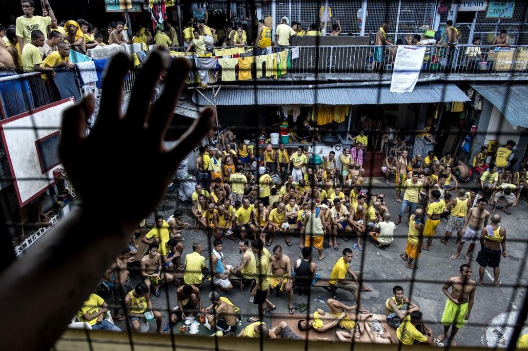 afp.16.07.18. Quezon City börtöne Manilában. A hatalmon lévő kormány elnöke, Rodrigo Duterte így is harcol a droghasználat ellen. drogháború, Fülöp-szigetek, Manila