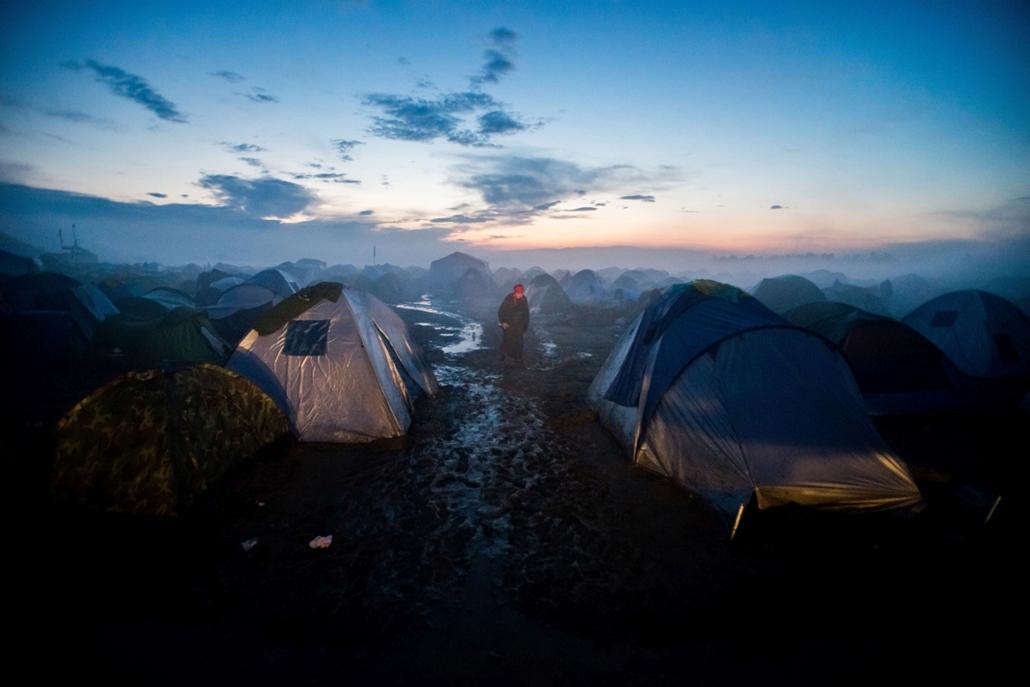 NE HASZNÁLD!!! - Hír-, eseményfotó (egyedi) - 1. díj: Balogh Zoltán (MTI/MTVA): Idoemeni menekült tábor