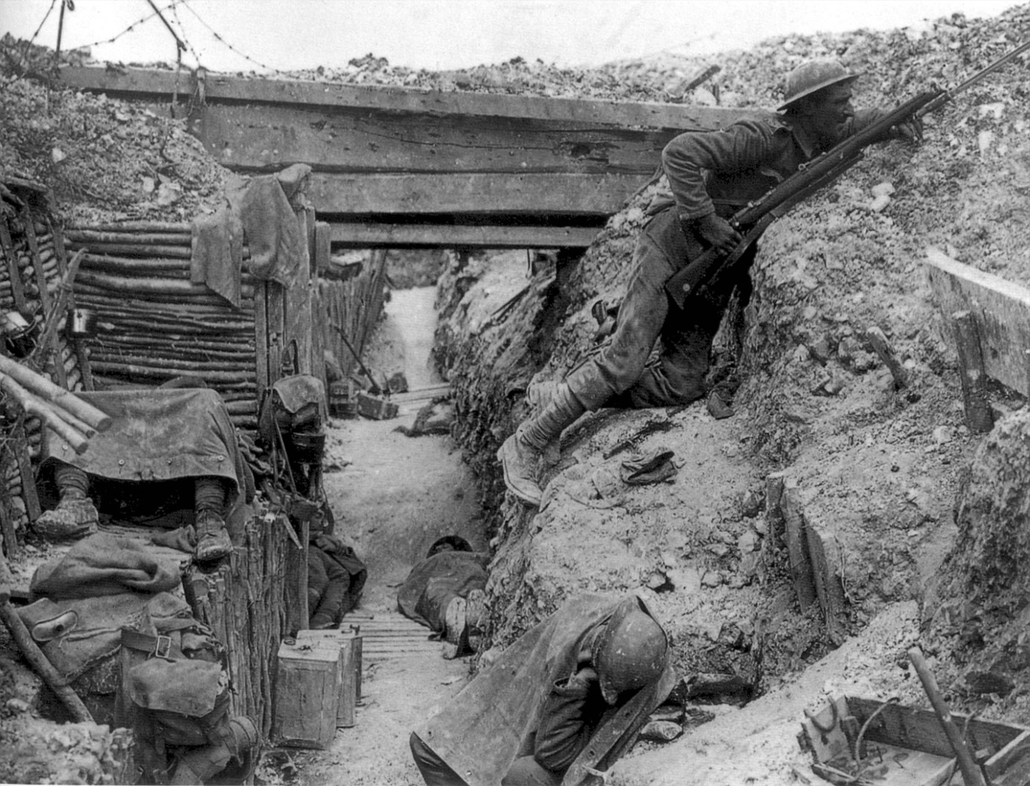 afp. Somme-i csata - World war I : Cheshire Regiment in a trench at the Battle of the Somme