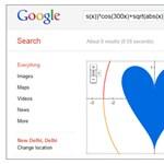 Valentin-napi ajándék – szív alakú Google függyvény