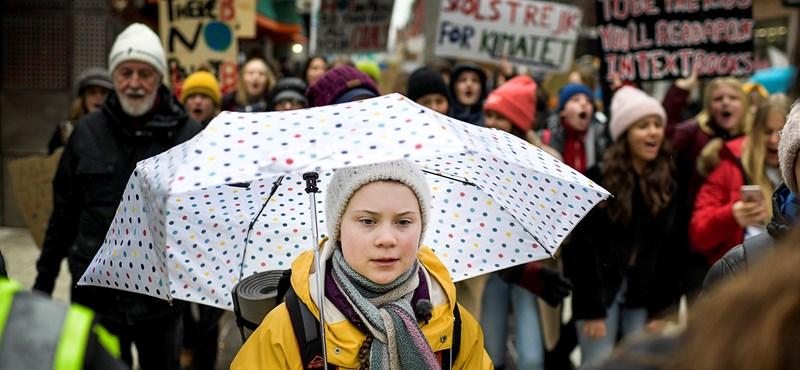Greta Thunberg, a svéd klímaaktivista diák lett az Év Embere