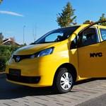 Újpesten az új New York-i taxi - fotók