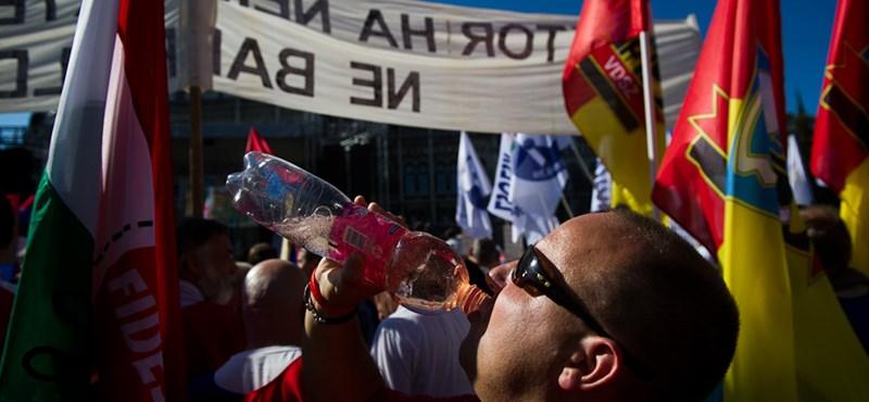"""""""Mintha Hoffmann Rózsa pikkelne ránk"""" - egyetemisták és tanárok is tüntettek a Kossuth téren"""