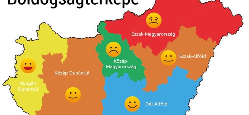 Térkép készült a magyar boldogságról