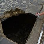 Kiderült, mitől keletkezhetett a lyuk a Zsigmond téren