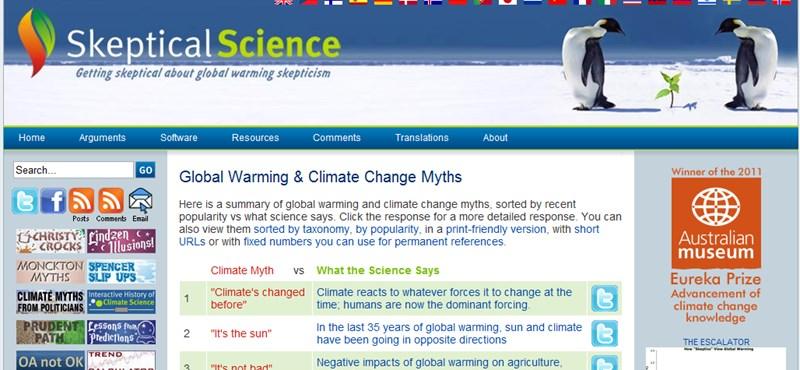 Mi az igazság a klímaváltozással kapcsolatban? Egy weboldal megmondja