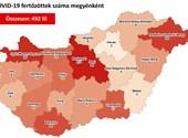 Nyilvános a térkép arról, hol hány igazolt koronavírus-fertőzött van