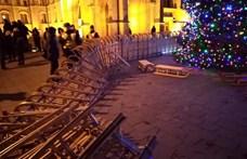 Gyűjtést szervez a Momentum, hogy pótolják a Kossuth téri tüntetésen megrongálódott szánkókat