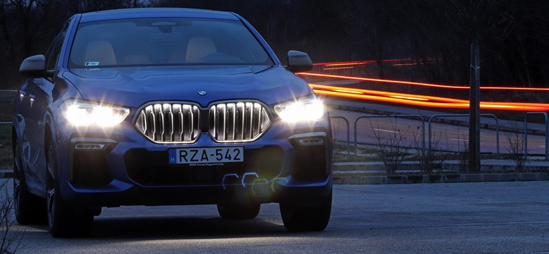 Fény az éjszakában: világító hűtőráccsal és 530 lóerővel teszteltük az új BMW X6-ot