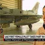 Fotó: Arab női pilóta vezette a légitámadást az Iszlám Állam ellen