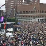 Videó: 150 ezren vonultak az utcára Oslóban
