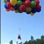 Lufikkal repült az égbe egy őrült kanadai fickó