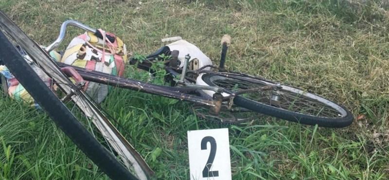 Árokba hajtott és meghalt egy biciklis a polgári halastónál