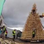 Fából épült magyar karácsonyfa Londonban, Manchesterben és Budapesten