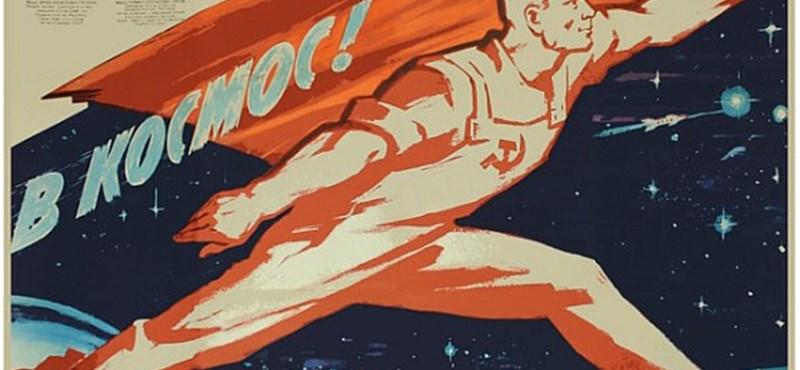 Licitáljon szovjet űrpropaganda plakátokra!