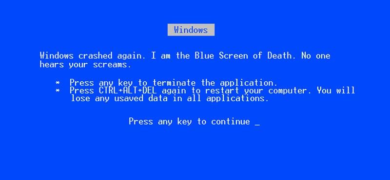Megváltozik a Windows hírhedt kék halál képernyője
