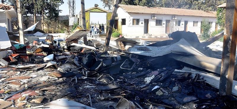 Hatalmas tűz pusztított a szíriai konzulátuson Almatiban