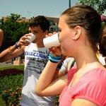 Hőség idején nincs mit tenni, inni kell