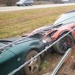 Még nem gyártják, de máris lezúzták az új Corvette-kabrió egy példányát - fotó
