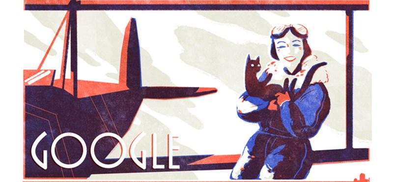 Miért van ma ez a nő és a macskája a Google-kereső főoldalán?