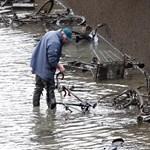 Leeresztettek egy párizsi csatornát, találtak pár száz biciklit, meg robogót benne