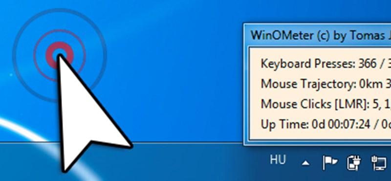 A hét Windows alkalmazása: WinOmeter - Ön hányszor kattint?