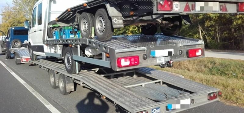 Sikerült fokozni: emeletes tréler miatt büntettek egy román sofőrt