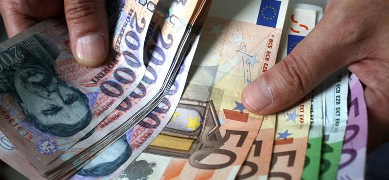 340 forint fölött az euró árfolyama