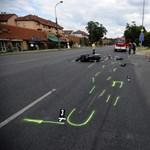 Felkavaró képek a pesti halálos motorbaleset helyszínéről
