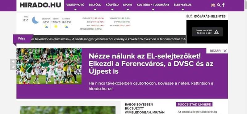 Az MTVA kijuttatta az Újpestet a nemzetközi kupába