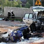A Péterfybe szállították a lengyel motorbaleset sérültjét