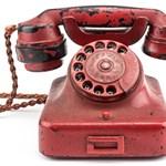 Elkelt Hitler hírhedt piros telefonja