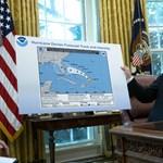 Filctollal összefirkált térképen próbálta bizonyítani az igazát Trump