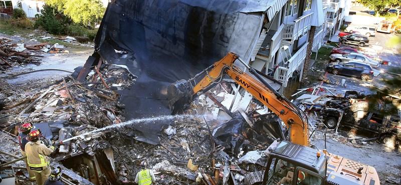 Fotó: Letarolt egy hotelt az USA-ban egy gázrobbanás